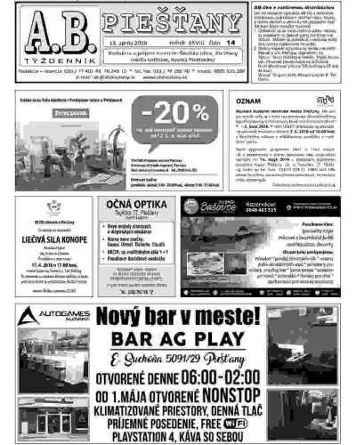 AB Piešťany 14