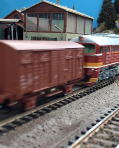 Modelová železnica Piešťany + krátke video
